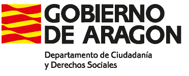 Gobierno de Aragón departamento de Ciudadanía y Derechos Sociales