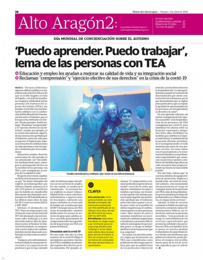 3 de abril Diario del Altoaragón (página izquierda)